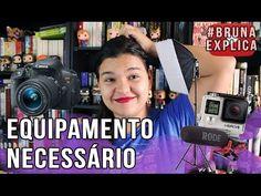 No 4º vídeo da série #BrunaExplica Youtube eu falo sobre os equipamentos necessários para ter um canal no Youtube - câmera iluminação e áudio.   Bigode Literário - O que eu uso pra gravar https://www.youtube.com/watch?v=kHbpOHMLmKg   Coisa de Nerd - Como fazer vídeo pra internet https://www.youtube.com/watch?v=NxEL31CpycU   Loja onde comprei minha softbox: www.diafilme.com.br   Assista outros vídeos da série #BrunaExplica Youtube: #1 Qual a diferença CPM e RPM?…