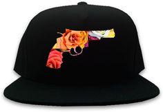 Kings Of NY Floral Gun Snapback hat era new york huf fame red hall of noir black streetwear strapback 5 panel hat fashion guns colt 45 on Etsy, $19.99