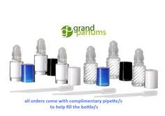 24 Mini SALE empty clear glass roll on bottles by GrandParfums Mini Sales, Roll On Bottles, Essential Oil Bottles, Young Living Essential Oils, Clear Glass, Empty, Perfume Bottles, Aromatherapy, Unique Jewelry