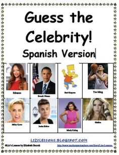 Guess the Celebrity! Spanish Version. Recently updated with new celebs! (2014)