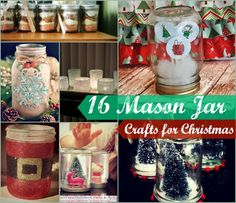 16 Mason Jar Crafts for Christmas | AllFreeHolidayCrafts.com