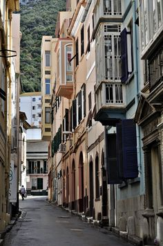 Back Alleys | Gibraltar - oh I remember these lonely sunday streets of Gibraltar.