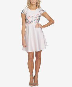 CeCe Hannah Floral-Print Fit & Flare Dress