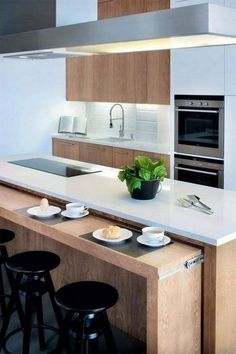 inspiring modern scandinavian kitchen design ideas - page 29 Kitchen Sets, Home Decor Kitchen, Interior Design Kitchen, Kitchen Furniture, New Kitchen, Home Kitchens, Small Kitchens, Kitchen Things, Kitchen Decorations