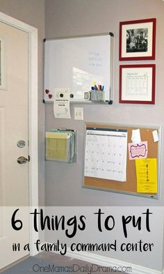 6 things to put in a family command center | One Mama's Daily Drama --- Organize mail, school notes, & paperwork with this easy solution. I love how little space this takes up! #organizing #home
