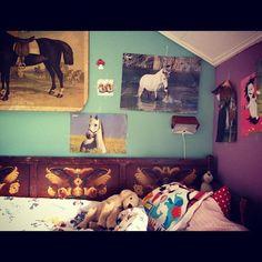 Her horse loving summer room
