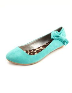 Sueded Bow Back Ballet Flat in mint  from Charlotte Russe. As much as I love patent, I also love suede! These look super comfy and adorable. Love the little bow on the side!