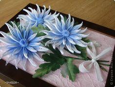 Картина, рисунок, панно Квиллинг: Хризантемы Бумажные полосы. Фото 2