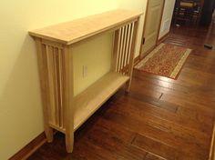 Custom Built Mission Style Hall/Sofa Table - Solid Cherry Wood