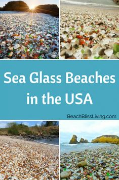 The Best Sea Glass Beaches in the United States - Are you wondering where you can find sea glass? Check out the best beaches to find sea glass in the United States. Vacation Places, Vacation Trips, Vacation Spots, Places To Travel, Best Beach Vacations Usa, Camping Places, Florida Vacation, Florida Beaches, Beach Resorts