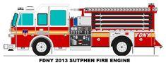 Fdny 2013 Sutphen Fire Engine by Geistcode.deviantart.com on @DeviantArt