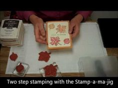 Video on Two Step Stamping with Stamp-a-ma-jig Technique for Stamping and making handmade cards.  Pin now watch later.  See more at http://marysstampinghappenings.blogspot.com Follow me on Facebook at https://www.facebook.com/MaryTrautnerStampinUp  products can be Purchased at http://marytrautner.stampinup.net