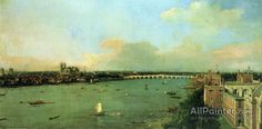 Giovanni Antonio Canal (called Canaletto),The Thames With St. Paul's Cathedral oil painting reproductions for sale