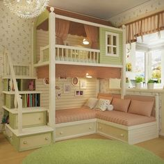 Each and every room of your home is undoubtedly very important and needs special care and attention in its decoration. But when it comes to your kids room then you need to be extra cautious as your kids bedroom design… Continue Reading → Cute Bedroom Ideas, Cute Room Decor, Girl Bedroom Designs, Room Ideas Bedroom, Baby Bedroom, Awesome Bedrooms, Bed Ideas, Bedroom Girls, Bedroom For Kids