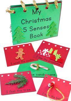 My Christmas Five Senses Book: Free Printable