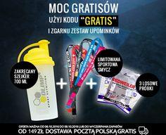 """Od czwartku 06.10 do niedzieli 09.10 do każdego zamówienia z wpisanym kodem bonusowym """"gratis"""" => http://www.kulturystyka.sklep.pl/nowosci dokładamy zestaw sportowych upominków!  #sport #kulturystyka #fitness #mma #siłownia #kulturystyka_sklep #promocja #okazja #rabat #zniżka #bonusy #gliwice #sklep"""