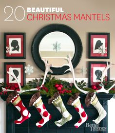20 best Christmas mantel ideas! We've got mantel ideas for every color scheme and theme.