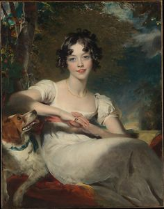 Sir Thomas Lawrence (British,1769–1830). Lady Maria Conyngham (died 1843), ca. 1824-1825. The Metropolitan Museum of Art, New York. Gift of Jessie Woolworth Donahue, 1955 (55.89) #dogs