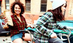 You should never lie about writing for Broad City to get dates because Ilana Glazer will call you out on it. Broad City, Abbi Jacobson, Look At The Stars, City Girl, Celebs, Celebrities, Woman Crush, Girl Power, Pop Culture