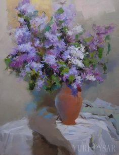 #lilacs #arwork #flowers #painting #spring Large Lilac Painting  Original Oil Flowers Painting Still by Pysar