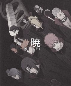 Zetsu, Kakuzu, Kisame Hoshigaki, Deidara, Hidan, Obito Uchiha, Pein, Sasori, Konan & Itachi Uchiha