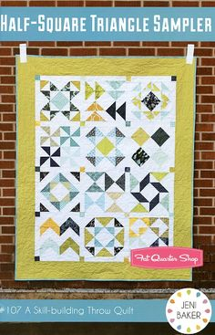 Easy but looks complicated....Half-Square Triangle Sampler Downloadable PDF Quilt Pattern