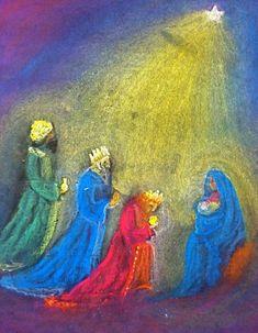 Vrije School Michael Bussum - Foto's en video Blackboard Drawing, Chalkboard Drawings, Chalk Drawings, Chalkboard Art, Christmas Drawing, Christmas Paintings, Christmas Art, Spiritual Paintings, Christmas Chalkboard