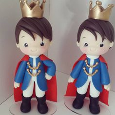 Topo de bolo em biscuit Príncipe (@manuela_abelleira) no Instagram Baby Girl Cakes, Baby Birthday Cakes, Little Prince Party, The Little Prince, Polymer Clay Dolls, Polymer Clay Crafts, Fondant People, Prince Cake, Cake Models