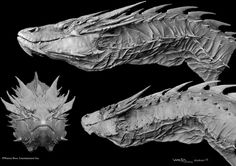 Gorgeous Smaug concept art shows all the scaly details from The Hobbit