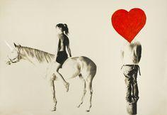 My Little Pony (Jim Dine Head), 2012 - Marc Seguin (Canadian painter + writer + etc. Little Poney, My Little Pony, Pencil Crafts, Jim Dine, Illustrations, Motion Design, Portrait, Moose Art, Graphic Design