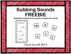 Subbing Sounds FREEBIE  Substitute Sounds in CVC Words to
