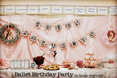 Throw a Ballet/Dance Party -- with Tutu Wreath, Dance Cake, Free Printables and More! Dance Party Birthday, Ballerina Birthday Parties, Ballerina Party, Birthday Party Themes, Birthday Ideas, Happy Birthday, 3rd Birthday, Ballet Cakes, Dance Cakes