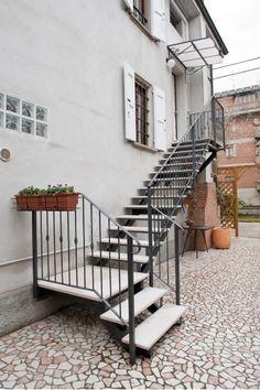 Outdoor Stairs · Stair Banister · Dielle Scale Produzione Scale In Legno E  In Ferro