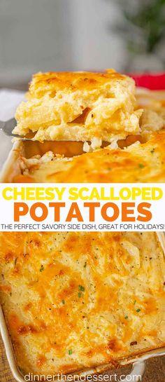 Cheesy Scalloped Potatoes Recipe - Dinner, then Dessert