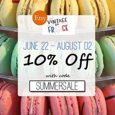 ➽ French Summer Sale > 10% off  - Summer Holidays Selection par Audrey sur Etsy