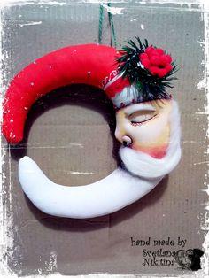 Купить Месяц-Дед Мороз в интернет магазине на Ярмарке Мастеров