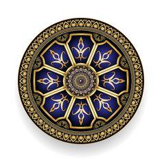 Mandala Digital Art - Circumplexical No 3515 by Alan Bennington Mandala Pattern, Mandala Design, Mandala Art, Magic Design, Background Patterns, Vector Background, New Media Art, Dot Art Painting, Geometry Art