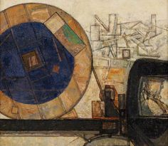 Prunella Clough BBC - Your Paintings - Lorry with a Cabledrum