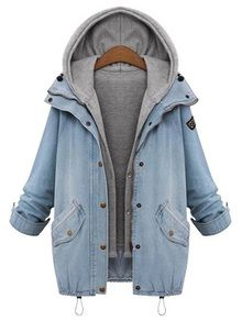 Hooded Drawstring Pockets Coat US$28.33 size: XXL so it's over sized