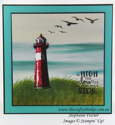 www.thecraftythinker.com.au, High Tide, Serene Scenery, #thecraftythinker, Stampin Up