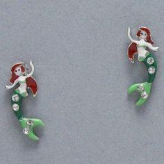 Mermaid Earrings, Painted Silver, Green, White & Red with Small Rhinestones Value Line, http://www.amazon.com/dp/B008UAT0FI/ref=cm_sw_r_pi_dp_lusLqb1RFSA1M