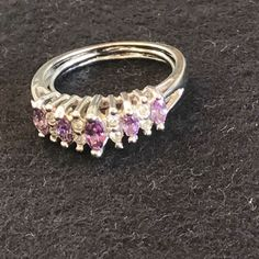 0c77f1aab6fc Shop Women s Avon Silver Purple size Rings at a discounted price at  Poshmark. Description  Avon adjustable amethyst birthstone ring sizes Sold  by Fast ...