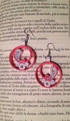 Orecchini quilling ... Cerchi in rosa