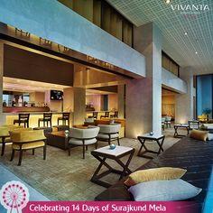 #Day1  Calling all the high spirits for the Happy Hours at Easy, Vivanta by Taj - Surajkund. #SurajkundMela #Art #Culture #Festival #Carnival #Delhi