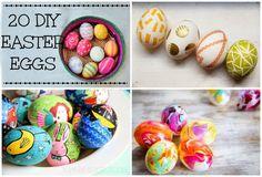 20 DIY Easter Egg Ideas