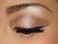 This is a great way to do the upper liner to make your eyes look further apart and dress them up nicely.