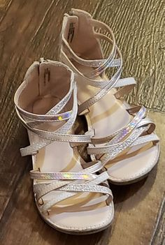 9c14d8421f1 2 PAIR OF CAT JACK GIRL S SANDALS - GOLD SILVER METALLIC - SZ 1 -  12 OBO   fashion  clothing  shoes  accessories  kidsclothingshoesaccs  girlsshoes   ad ...
