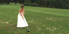 This bride wears her wedding dress every year on her anniversary. What a great, fun idea!