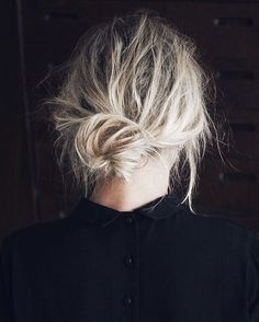 low messy knot | hair