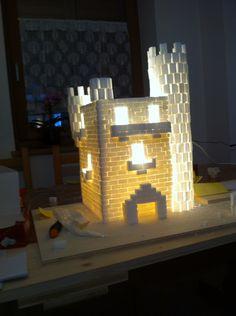 Castello con zollette di zucchero